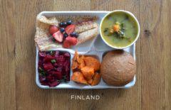 Repas typique cantine Finlandaise