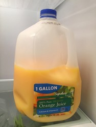 Gallon de jus d'orange